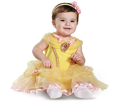 [Disguise Baby Girl's Disney Beauty and The Beast Belle Costume, Yellow, 12-18 Months] (Princess Costumes For Babies)