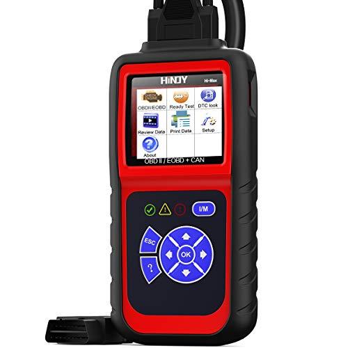 HINOY Hi-Max OBD2 Scanner, Car Code Reader Enhanced Universal OBDII/EOBD CAN Diagnostic Code Reader Scan Tool Check Engine Light Automotive Car Diagnostic Scanner I/M Readness with Live Data