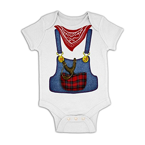 [Hillbilly Costume Baby Grow - White 3-6 Months] (Farmers Dress Up Costumes)
