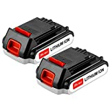 battery black and decker 20v - Battery for Black and Decker 20v Lithium-Ion 2000mAh,Replacement 20 Volt Max LBXR20 LB20 LBX20 LBX4020 Extended Run Time Cordless Power Tools Series Battery (2 Packs)