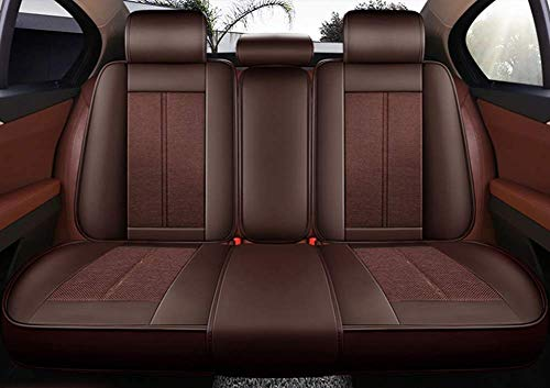 Bbaixx Leather Car Seat Cushions 5 Seats Full Set - Anti-Slip Suede Backing Universal Fit Covers Adjustable Bench for 99% Types of Cars,Black,Brown: Amazon.co.uk: DIY & Tools