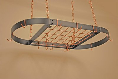 D BLACK/COPPER (Copper Grid Oval Rack)