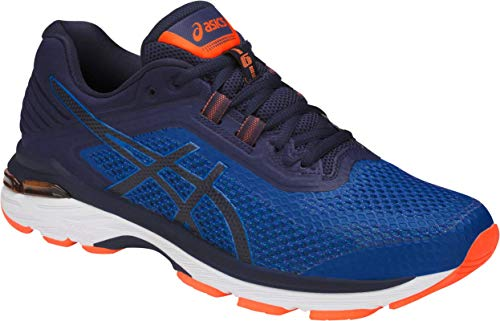 ASICS GT-2000 6 Men's Running Shoe, Imperial/Indigo Blue/Shocking Orange, 9 M US