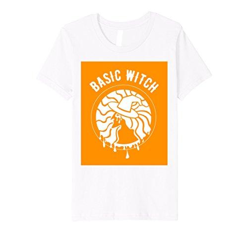 Kids PREMIUM Funny Halloween Costume Basic Witch Shirt 8 (Basic White Girl Halloween Costume)