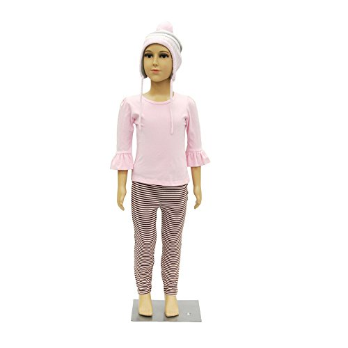 Realistic Full Body Kids Mannequin (4-6 Years Old) - Plastic Full Body Childrens Mannequin with Wig