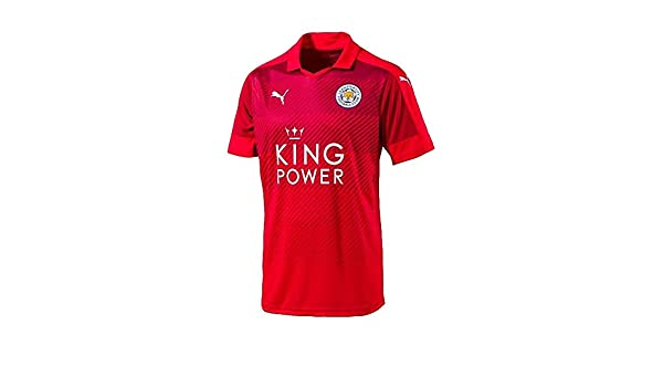 c8178d7eceb Amazon.com : PUMA Leicester City Away Jersey [Red] (S) : Sports & Outdoors