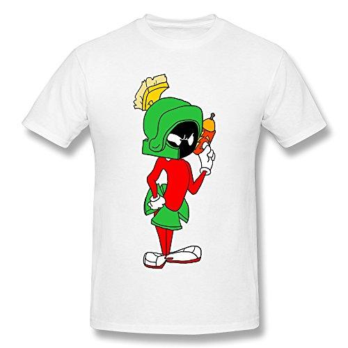 Marvin Martian Costumes (HUBA Men's T Shirt Marvin The Martian White Size XXL)