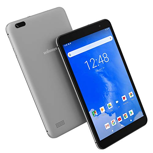 Android 9.0 Tablet 8 Inch WiFi PC – Winnovo T8 MTK MT8163 2GB RAM 32GB ROM HD IPS 1280×800 2.0MP+5.0MP Camera Dual Band WiFi Bluetooth GPS FM (Grey)