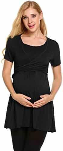 87583534cee Aimado Maternity Nursing Breastfeeding Pajamas Women Nursing Rayon Sleepwear  Top S-XXL