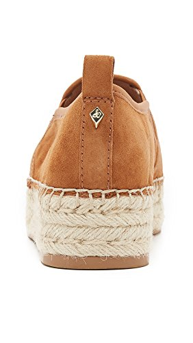 Suede Sam Slip Carrin Sneaker Women's Edelman Platform On Saddle Espadrille TTzgwq