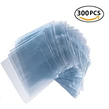 "300pcs 6""x6"" Shrink Wrap Bags for Soaps Bath Bombs and Handmade Crafts,PVC Heat Shrink Bags Perfect For Wrapping A Wide Variety Of Products Including Essential Oil Bottle"