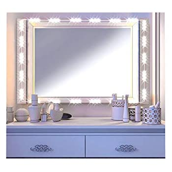 led vanity mirror lights kit image hollywood style cosmetic lights with dimmer controller and. Black Bedroom Furniture Sets. Home Design Ideas