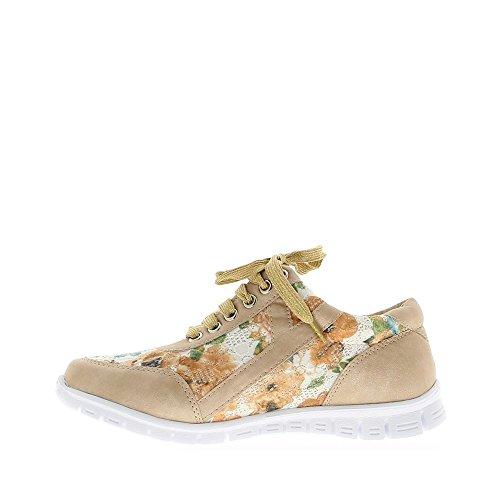 Donna Beige Con Suola Fiori E Zeppa Bianca Sneakers PAq5xOnE