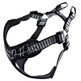 Petworthy Dog Harness, No Pull Dog Vest No Choke Escape Proof X Frame Outdoor Walking Sport Flyknit Fabric Design Adjustable Reflective Pet Vest Harness Small Dogs (M, Grey)