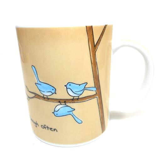 (Laugh Often Sweet Saying Porcelain Coffee Mug)