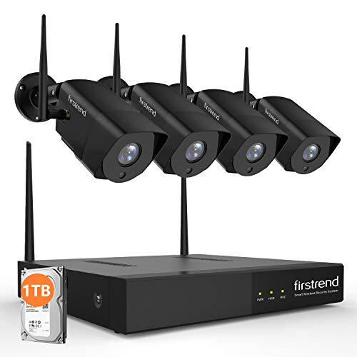 Security Camera System Wireless, Firstrend 1080P Wireless NVR System with 4pcs 1080P Security Camera and 1TB Hard Drive Pre-Installed, P2P Home Security Camera System with Free APP [Black] Review