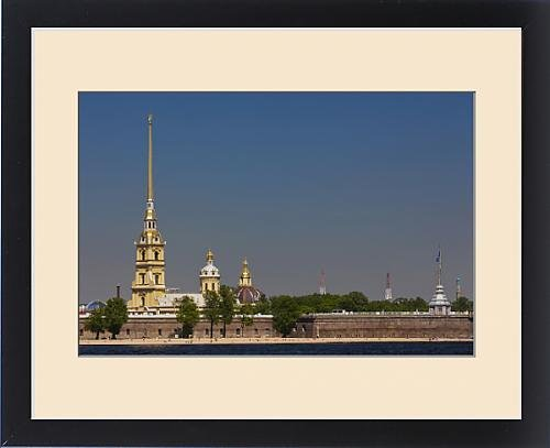 Framed Print of Russia, Saint Petersburg, Center, Neva River view of the Saints Peter and Paul by Fine Art Storehouse