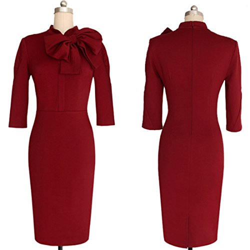 Womens Elegant 1950s Vintage Dress-29 (50s Day Dress Up Ideas)