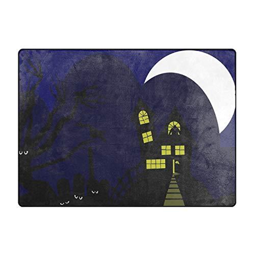 TOGGIP Machine-Washable Door Mat Nice Halloween Silhouette Indoor/Outdoor Decor Rug Doormat 80x58 ()
