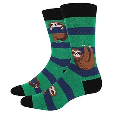 Happypop Men'S Flamingo Sloth Llama Crew Socks Novelty Funny Animal Cat Pattern - Making Taco
