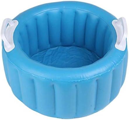 Fssh-mlx ポータブル折りたたみバケツ折り畳み式の洗面観光アウトドアキャンプ折りたたみ釣りバケツ洗車フットバスインフレータブルバケツ (色 : Blue)