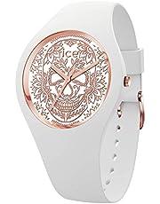 Ice-Watch - ICE change Calavera white rose-gold - Montre blanche pour femme avec bracelet en silicone - 016052 (Medium)