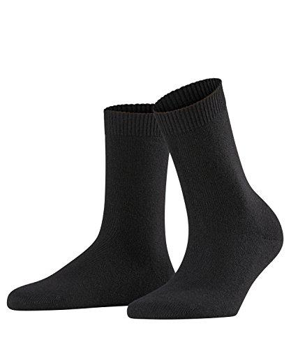 FALKE Women Cosy Wool W SO, Black, US 8-10.5 (size: 39-42)