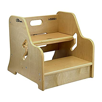 Merveilleux Little Partners Toddler Step Up Stool | 2 Step Adjustable Height For  Kitchen, Bathroom Or