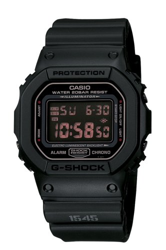 Casio Men's DW5600MS-1CR G-Force Military Concept Black Digital Watch ()