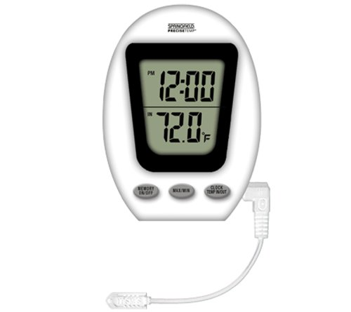 Springfield Dual Digital Thermometer Clock