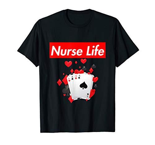(Nurse Playing Cards Life T-Shirt)