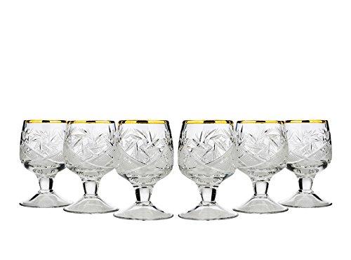 - Neman WG5290G-X, 1.7 Oz. Crystal Cut Sherry Glasses with Short Stem, Classic Hand-Made Liqueur Cordial Glasses, Vodka Shot Glasses, Wedding Gift Drinkware, Set of 6
