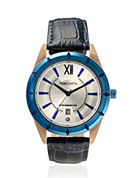 TimeSmith Limited Edition Blue Dial Blue Genuine Leather Watch for Men with Date TSM-098