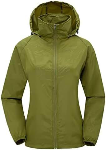 ZSHOW Women's Super Lightweight Jacket Quick Dry Windbreaker UV Protect Coat