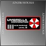 "Resident Evil Umbrella Corp. Parking Decal Vinyl Decal Bumper Sticker 2""x5"""