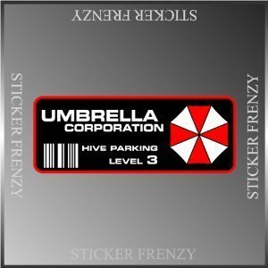 Resident Evil Stickers (Resident Evil Umbrella Corp. Parking Decal Vinyl Decal Bumper Sticker 2