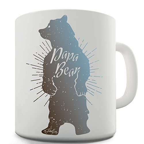 (Twisted Envy Papa Bear Ceramic Mug For Dad Father's Day)