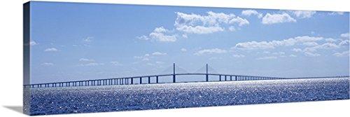 Canvas On Demand Premium Thick-Wrap Canvas Wall Art Print entitled Bridge across a bay, Sunshine Skyway Bridge, Tampa Bay, Florida (Sunshine Skyway Bridge)