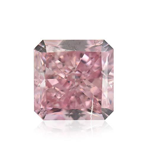 Leibish & Co 0.40 Carat Fancy Intense Pink Loose Diamond Natural Color Radiant Cut GIA Cert