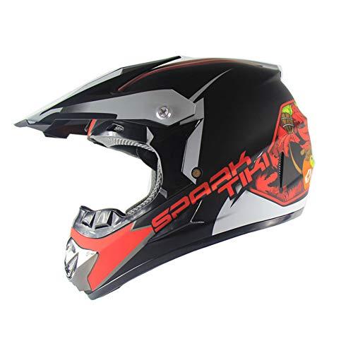 SHOW Cascos Todo Terreno-ATV Casco Moto Integral Ligero para Mujer Hombre Chica Motocicleta Vespa Scooter-Estrella de Cabeza...