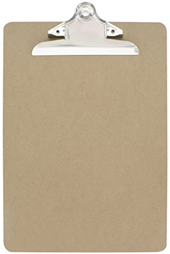 (Emraw Standard Size Wooden Clipboards Flat Hanging Hardboard Set with Extra Secure Sturdy Spring Clip for School, Office, Work, Home, Hospital - 1)