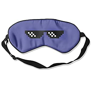KOLP Thug Life Sunglasses Super-smooth Eye Mask Natural Silk Sleeping Mask Soft Blindfold Eyeshade Comfortable Eyepatch With Adjustable Head Strap For Women Men And Youth