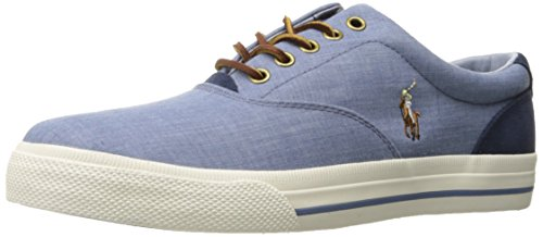 Polo Ralph Lauren Men's Vaughn Sneaker, Blue, 8.5 D - Polo Lauren Us By Ralph