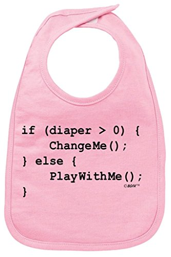 Funny Baby Clothes Coding for Babies Funny Programmer Baby Bib Pink