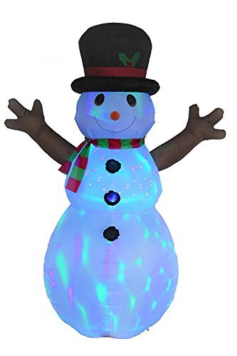 VIDAMORE 8FT Inflatable Self-Inflating LED Lit Indoor or Outdoor Christmas Snowman Holiday Decoration