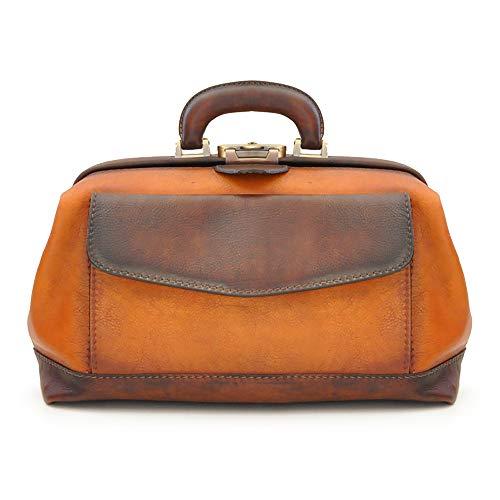 Pratesi Italian Leather Doctor Bag, Cognac