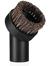 "Powerextra 1.25"" (32mm) Round Dust Horse Hair Vacuum Brush Replacement for Most 1-1/4 Inner Diameter Vacuum Cleaner"