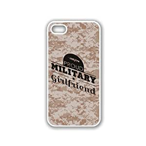 Proud Military Girlfriend 1 Camo iPhone 5 White Case - For iPhone 5/5G White - Designer TPU Case Verizon AT&T Sprint