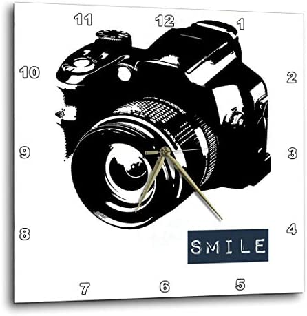 3dRose DPP_152056_1 Smile Camera Photographer Art Wall Clock, 10 by 10-Inch
