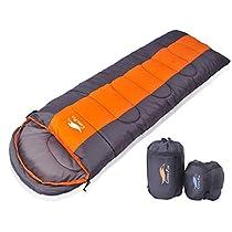 CuteeFox 寝袋 封筒型 軽量 シュラフ 防水 コンパクト【 選べる6色】1kg 1.8kg 2.2kg アウトドア 登山...